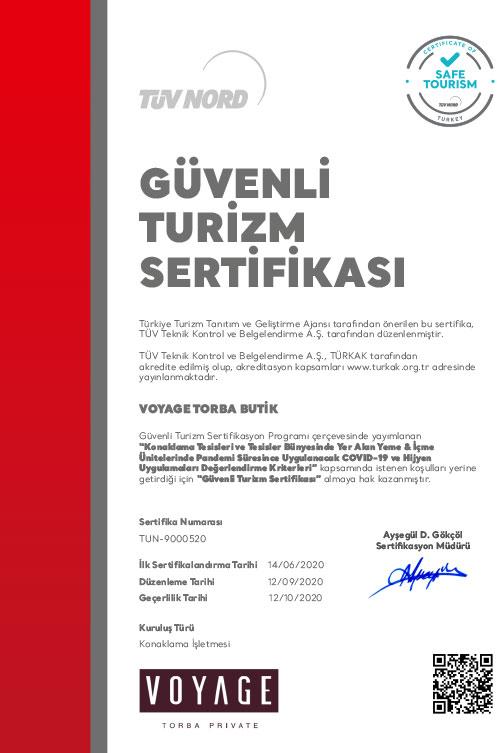 TV NORDdan Gvenli Tatil Sertifikas